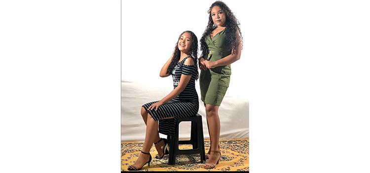 Jovens talentos cabeceirenses Nayra e Talita